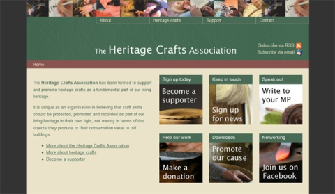 The Heritage Crafts Association website